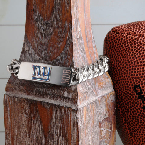 Personalized Bracelets - NFL - Silver - Team Logo -  - Professional Sports Gifts - AGiftPersonalized