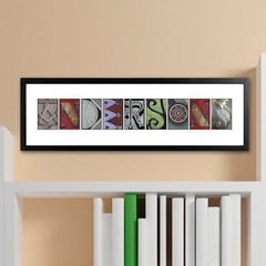 Personalized Architectural Urban Alphabet Name Sign - Full Color