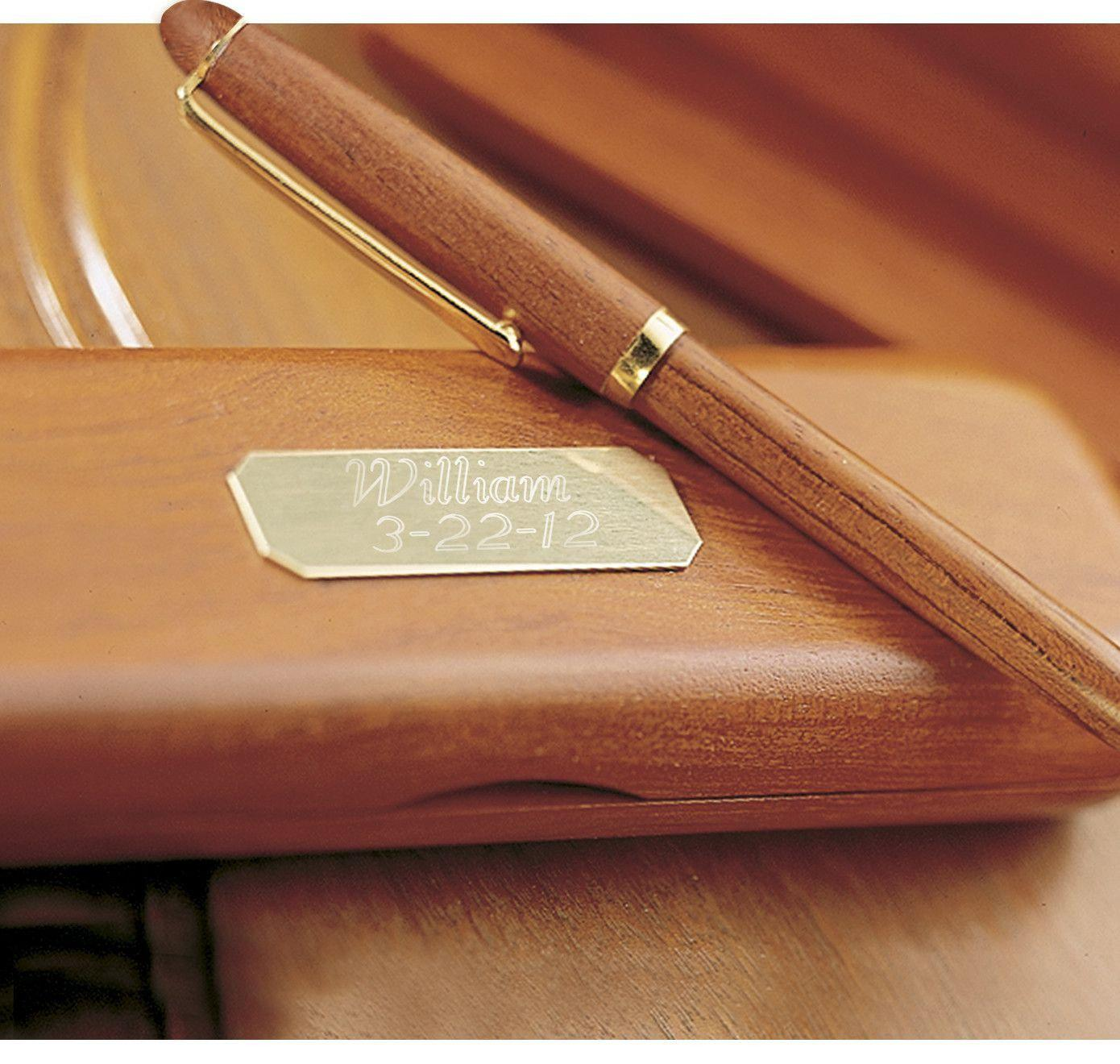 Personalized Pens - Rosewood - Pen & Case Set