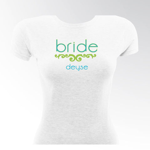 Personalized T Shirts - Bride T Shirt - Women's - Wedding Gifts - Lovely Lime - T-Shirts - AGiftPersonalized
