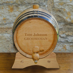 Personalized 2-Liter Oak Whiskey Barrel - Custom Oak Whiskey Barrel