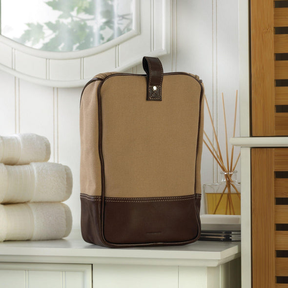 Personalized Canvas and Leather Toiletry Bags -  - JDS