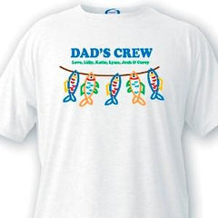 Personalized Dad T-Shirts - Dad's Crew -  - T-Shirts - AGiftPersonalized