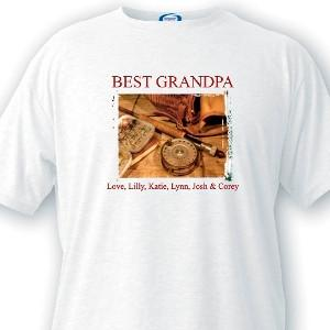 Personalized Grandpa T-Shirts - Fishing Memories -  - T-Shirts - AGiftPersonalized
