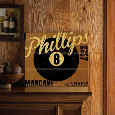 Personalized Bar Signs - Wooden Sign - Tavern Sign - Multiple Designs - 8-Ball - JDS