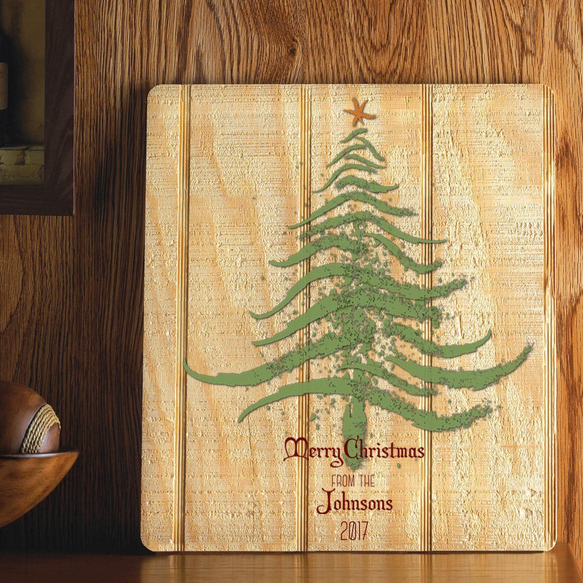 Personalized Christmas Tree Wood Art Sign - Multiple Designs