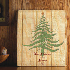 Personalized Wood Art Sign - Christmas Tree - All