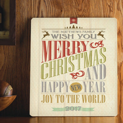 Personalized Christmas Words Wood Art Sign -  - JDS