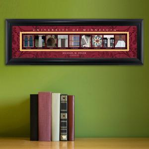 Personalized University Architectural Art - Big 10 Schools College Art - Minnesota