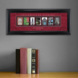 Personalized University Architectural Art - SEC College Art - Alabama - JDS