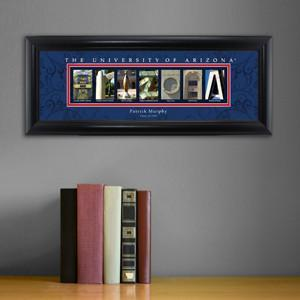Personalized University Architectural Art - PAC 12 College Art - Arizona - Personalized Wall Art - AGiftPersonalized
