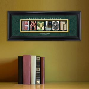 Personalized University Architectural Art - Big 12 Schools College Art - Baylor - JDS