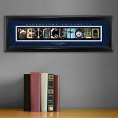 Personalized University Architectural Art - Big East College Art - Georgetown - Personalized Wall Art - AGiftPersonalized