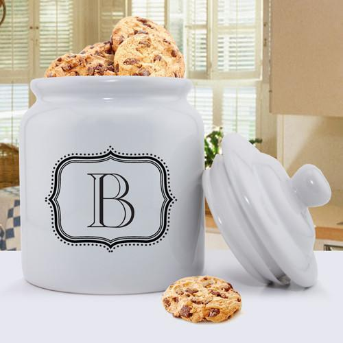 Personalized Ceramic Cookie Jar - Single Letter -  - JDS
