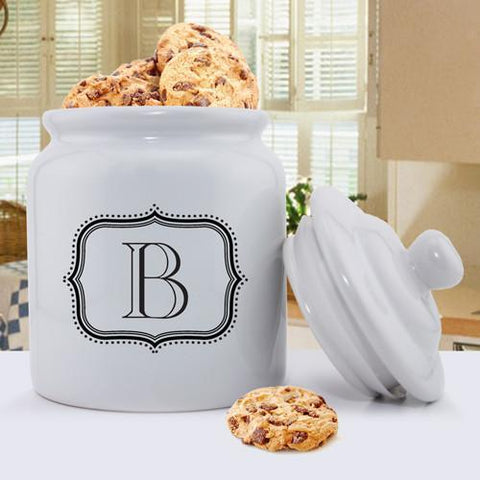 Personalized Ceramic Cookie Jar - Single Letter -