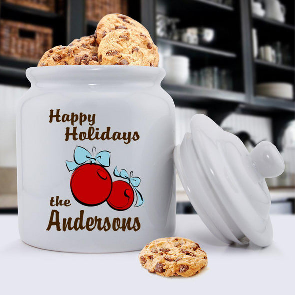 Personalized Holiday Cookie Jars - Bulbs - JDS