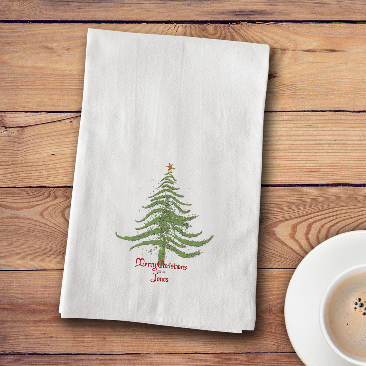 Personalized Christmas Tea Towels - 12 designs