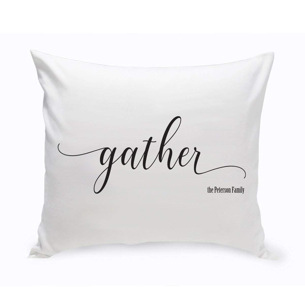 Personalized Gather Modern Farmhouse Throw Pillow