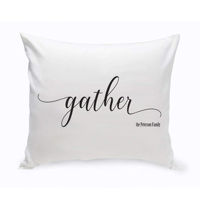 Modern Farmhouse Personalized Gather Throw Pillow -  - JDS