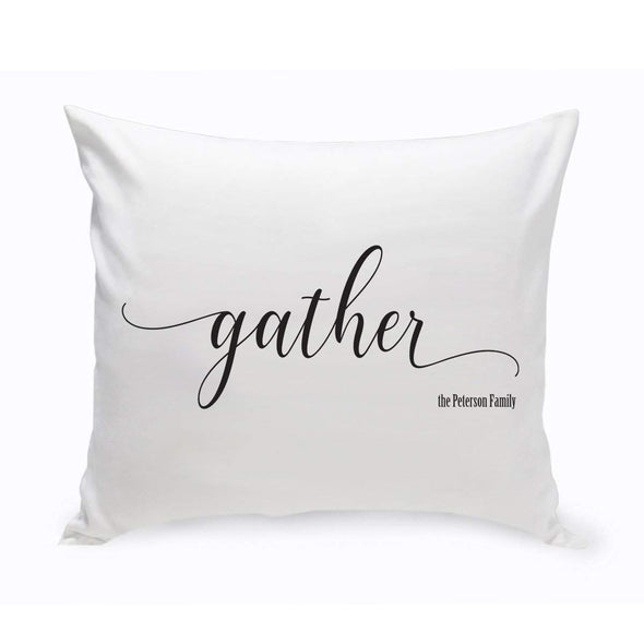 Personalized Gather Modern Farmhouse Throw Pillow -  - JDS