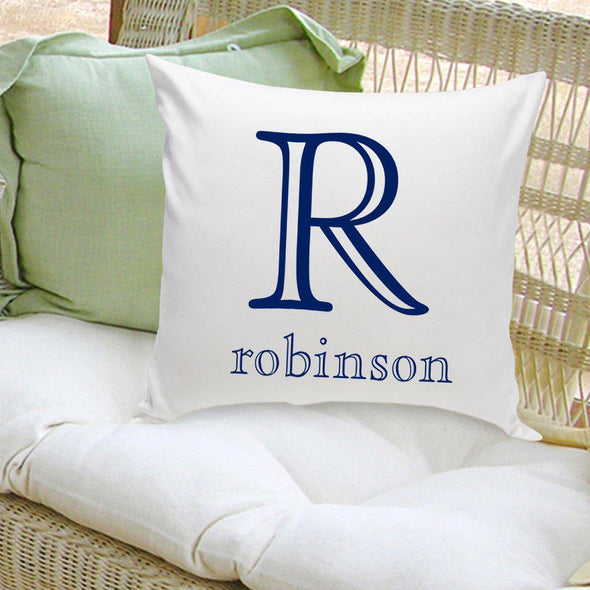 Personalized Family Name Throw Pillows - Initial - JDS