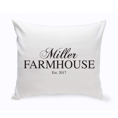 Personalized Family Name Farmhouse Throw Pillow -  - JDS