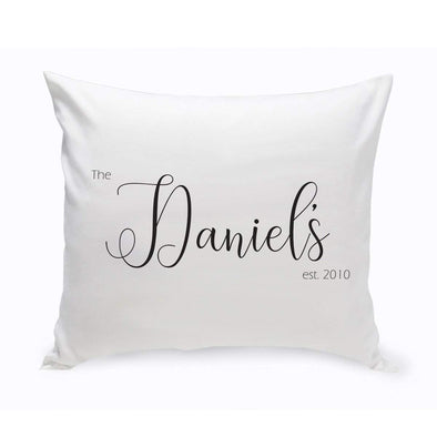 Personalized Family Name Script Farmhouse Throw Pillows -  - JDS