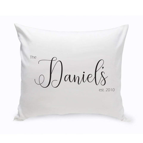 Personalized Family Last Name Modern Farmhouse Throw Pillow at AGiftPersonalized