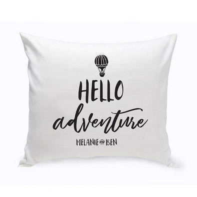 Personalized Hello Adventure Throw Pillow -  - JDS