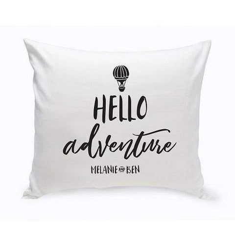 Personalized Hello Adventure Throw Pillow -  - Home Decor - AGiftPersonalized