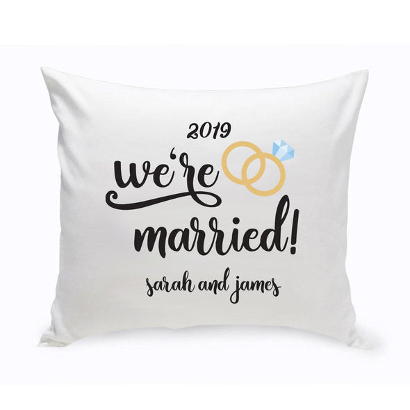 Personalized We're Married Throw Pillow -  - JDS