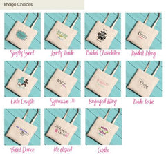 Personalized Canvas Totes - Bride and Bride to Be -  - Tote Bags - AGiftPersonalized