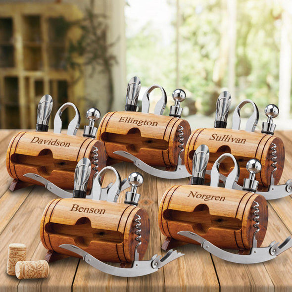 Personalized Wine Tool Set - Set of 5 -  - JDS