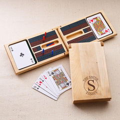 Personalized Wood Cribbage Game - Circle