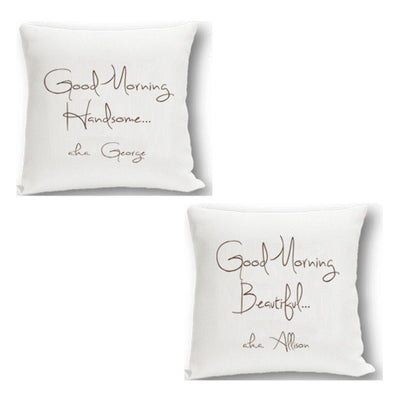 Personalized Couples Throw Pillow Set - HandsomeBeautiful - JDS