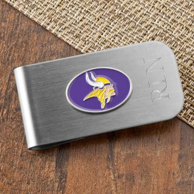 Personalized Money Clip and Bottle Opener - NFL Team Logo -  - JDS