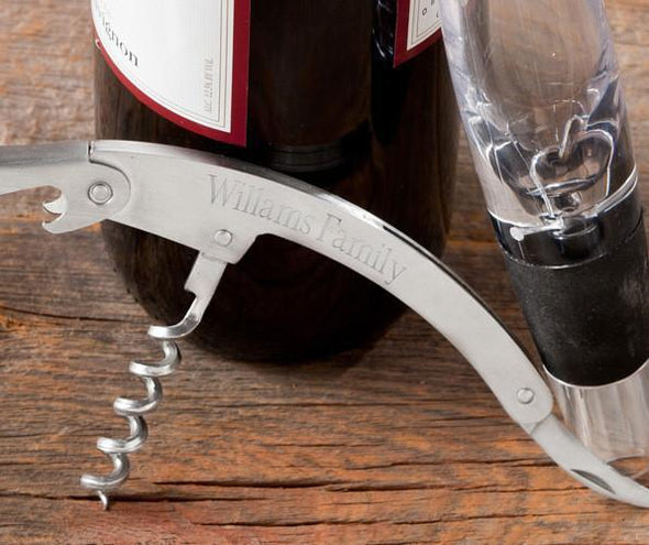 Engraved Wine Aerator and Cork Screw Set -  - JDS