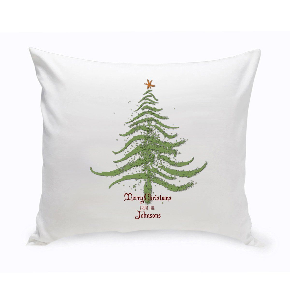 Personalized Vintage Christmas Throw Pillow