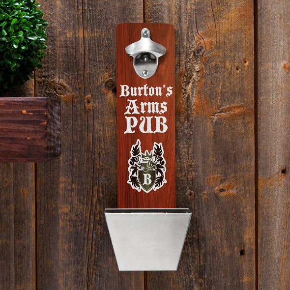 Personalized Wall Mounted Bottle Opener - 12 Designs - ArmsPub - JDS