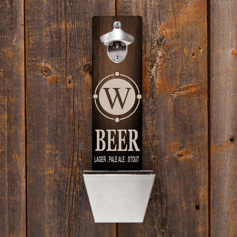 Personalized Wall Mounted Bottle Opener - Beer - Personalized Barware