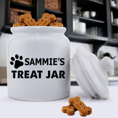 Personalized Colorful Classic Dog Treat Jars - Happy Paws - Black - Pet Gifts - AGiftPersonalized