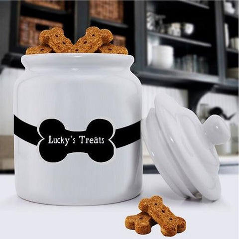 Personalized Dog Treat Jars - Classic - Colorful Bones - Dog Gifts -