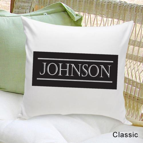 Personalized Family First Throw Pillow