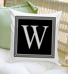 Personalized Initial Throw Pillows - Modern - JDS