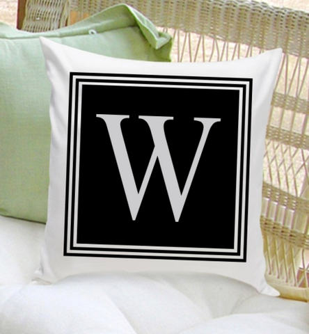 Personalized Initial Throw Pillow - Modern