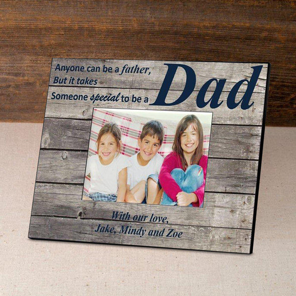 Personalized Father's Day Picture Frames - Barnwood/Navy - JDS