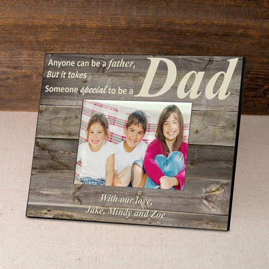 Personalized Father's Day Picture Frames - Barnwood/Cream - JDS