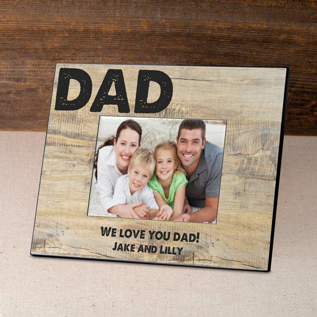 Personalized Father's Day Picture Frame - Classic Dad