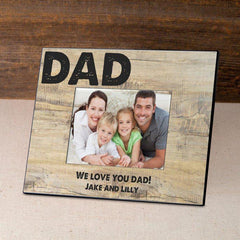 Personalized Father's Day Frame-Classic Dad -  - Frames - AGiftPersonalized