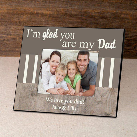 Personalized Father's Day Frame-I'm Glad -  - Frames - AGiftPersonalized